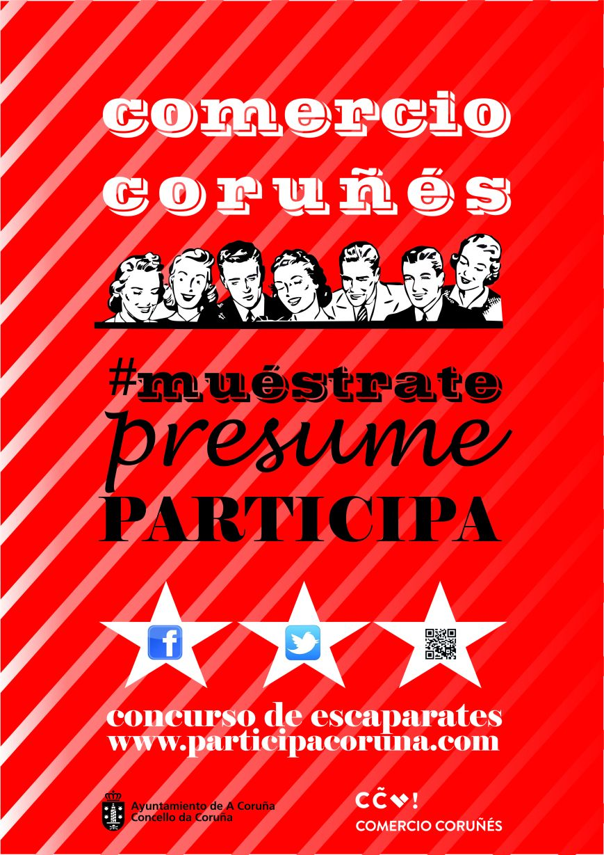 Cartel concurso de escaparates